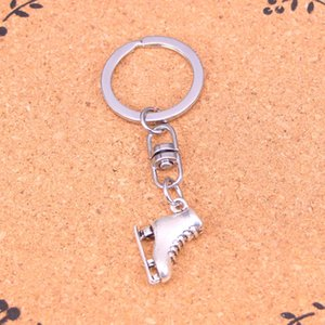 Fashion Keychain 21*18*6mm ski boots Pendants DIY Jewelry Car Key Chain Ring Holder Souvenir For Gift