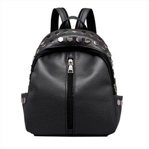 Vintage Womens Rivets Leather Backpack Satchel Womens Anti thief Leather Backpack Satchel Travel School Rucksack Bag for Girls