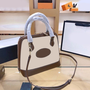 New 2020 Boston Tote Shoulder Bag For Women Designer High Quality Brown Canvas Leather Zipper Crossbody Bags