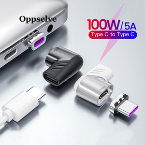 Oppselve 100W Usb C To Type C Magnetic Adapter Fast Charging Usb Type Magnet Converter Magnetic Cable Type-C USBC Adapter