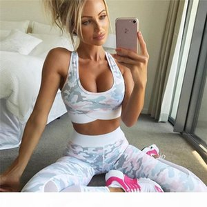 Women Two Piece Suit Tops And Trousers Suit Fashion Camouflage Print Set Female Mesh Patchwork Leggings Female Suits