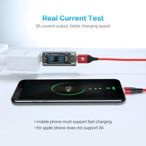 FLOVEME magnétique Type USB Micro C Câble pour l'iPhone 11 7 Câble d'éclairage LED 3A fil de charge rapide Téléphone aimant et chargeur Cabo