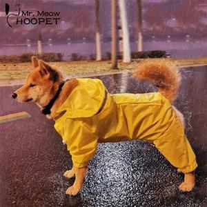 Hoopet Köpek Yağmurluk Tulum Yağmurluk Köpekler için Pet Pelerin Labrador Su Geçirmez Golden Retriever Ceket 201114