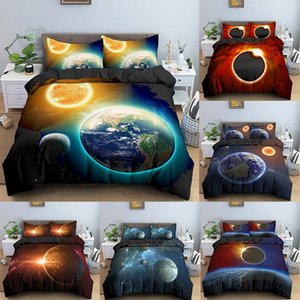 3D Galaxy Bedding Set Universe Outer Space Duvet Cover Printed Home Bedroom Decoration Bed Linen Bedclothes