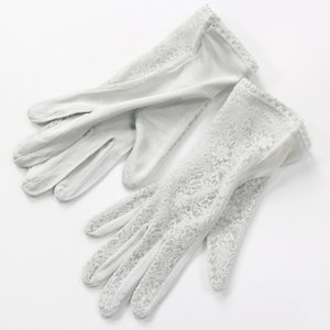 Elegant ladies high quality 100 silk knit gloves summer anti-UV thin section breathable sleep moisturizing Lace gloves K5 201019