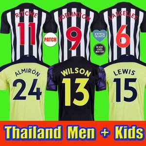 Neue 20 21 NuFC Fussball Jerseys Shelvey 2020 2021 Joelinton Football Hemd Almiron Ritchie Gayle Ausrüstung Männer Kinder Kits