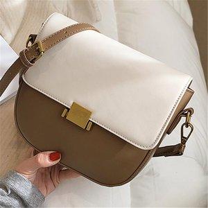 Bolsa de flap de lua para feminino 2021 luxo PU couro bolsa de ombro simples senhora de alta qualidade cor sólida bolsas de cor tendência de all-match
