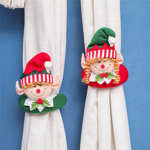 Christmas Rideau Boucle Tiewback Santa Snowman Holderback Fixer Boucle Pince Décorations Christmas Ornements de Noël 200pcs T1I3304