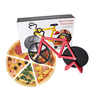 Bicycle Pizza Cutter Dual Stainless Steel Bike Pizza Cutter Pizza Tool Knife Baking Kitchen Tools Gifts Creative Cooking Tools ZYY480