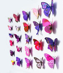 Cenerentola Butterfly 3D Decorazione a farfalla Adesivi murali 12pc Farfalle 3D Farfalle 3D Farfalla PVC Adesivi murali rimovibili Farflys HWC3529
