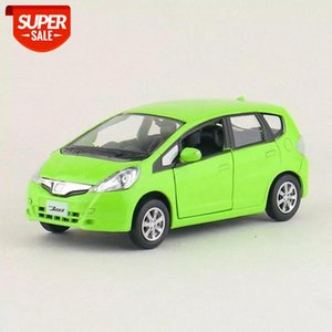 High Simulation Exquisite Diecasts&Toy Vehicles: RMZ city Car Styling Honda Fit Jazz 1:36 Alloy Diecast Car Model Pull Back Cars #4a8H