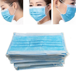 Disposable Protective Mask 3 layer Earring Dust-proof Mask 3 layer Soft Breathable Protective Mask for Dust and Haze