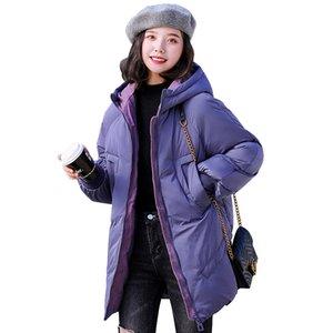 Casaco de Inverno Mulheres Thicken Quente revestimento encapuçado inverno algodão acolchoado Parka Feminino Outwear Grosso FANMUER Polyester Casual 201019