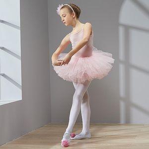 Combed Cotton Camisole Dress Leotard Ballet Dress Tutu Ballet for Girls Kids Children Tulle Dance Gymnastics High Quality