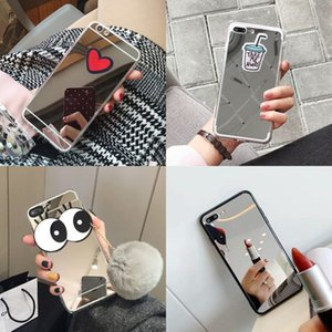 Chic Clear Makeup Mirror 3D Cartoon Eye Love Phone Case for iPhone 12 Mini 11 Pro XR X XS Max 7 8 6 6S Plus 5 5S SE Cover