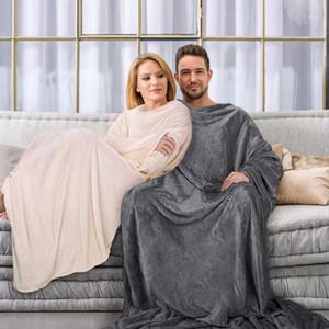 Soft Warm Comfy Plush TV Hooded Blanket Sweatshirt Fleece Throw Blanket with Sleeves for Adult Women Men Kids Weighted Blankets1