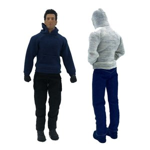 1 12 Scale Fashion Trend Sweater Jacket Hoodie Clothes for 6in SHF Action Figure Doll Toys DIY Hobbies Y1221