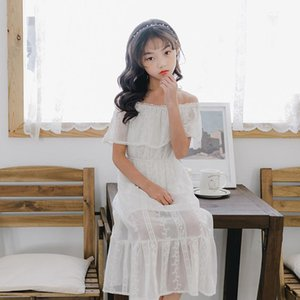 2020 Summer New Arrival Girls Dresses Fashion Baby Girls Off-Shoulder Dresses Cute Mesh Lace Princess for Girls, #8337