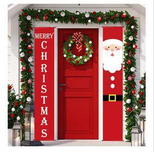New Christmas decorations Christmas couplet festival decoration door curtain Christmas banner Outdoor Flag