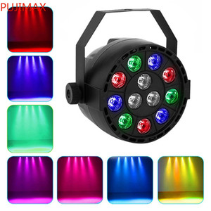 12 LED RGB Colore Mixing PAR Lampada 8CH Voice Teach Stage Light LED Flat per DJ Wedding Party Holiday Stage Light Projector
