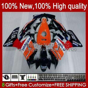 Тело + бак для Honda CBR-125R 125CC CBR125R 02 03 04 05 06 97HC.0 CBR125RR CBR 125 R CBR 125R 2002 2003 2004 2005 2006 Faking Repsol Orange