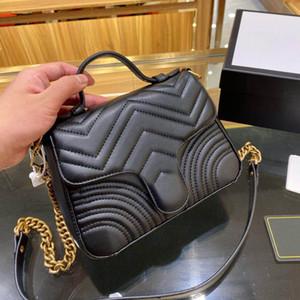 5a Classic Wallet Handbag Ladies Moda Bolsa de Moda Bolsa de embrague Bolsa de hombro de cuero suave Doble Messenger Bag Crossblebag con caja al por mayor 002