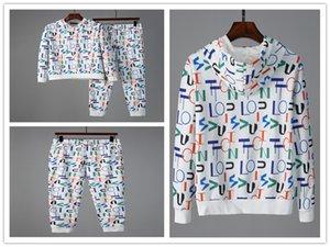 2020 мужских костюмы Sweat Осени роскоши Мужчина дизайнер Jogger костюмы куртка + брюки НАБОРЫ 2рса вскользь вышитого хлопок Tottenham подготовки одежды