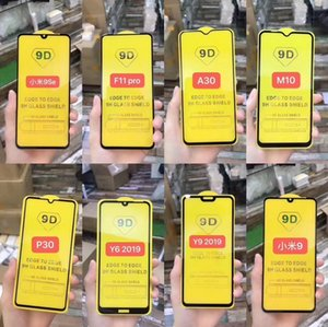 9D Full Cover Tempered Glass for iPhone 12 Pro max xs 8 7 Samsung S20FE A21s Huawei P40 Full Screen Protector without Box