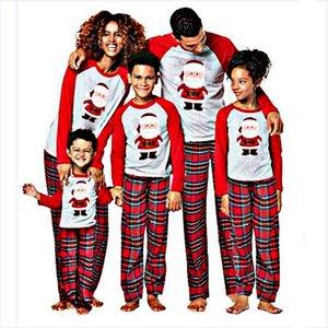 Family Christmas Pajamas Set Family Matching Clothes 2020 Xmas Family Pyjamas Adult Kids Pajamas set Baby Romper Sleepwear LJ201111