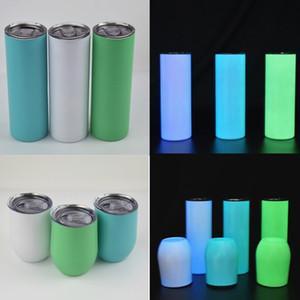 Sublimazione Tumbler dritto 20 once bagliore nel bicchiere in bianco scuro Tumblring con vernice luminosa sottovuoto tazza di trasferimento di calore