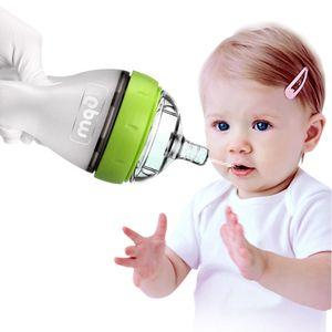 240ML Baby Breastmilk Bottle Wide Neck Soft Silicone Feeding Weaning Milk Container Children Mamadeira Nipple Bottle Newborn Feeding