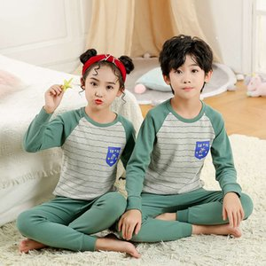 underwear set pure cotton boys clothing and girls cloth autumn pants pajamas Children's home AEYIF33I