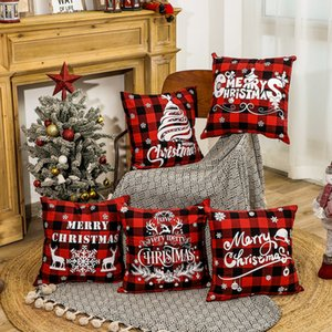 크리스마스 장식 버팔로 격자 무늬 베개 크리스마스 겨울 휴가가 소파 소파 18 인치를 위해 베개 케이스를 던져 커버 JK2011XB