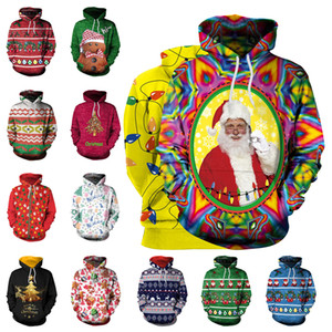 3D Print New Year's sweaters men ugly xmas Men Christmas pullover Kinnted men's winter christmas men sweater Large Size Clothes