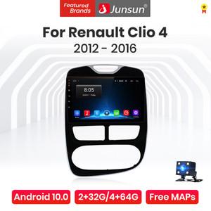 JUNSUN V1 Pro Android 10.0 4G + 64G Radio Lecteur multimédia pour Renault Clio 4 Zoe 2012 - 2016 Navigation GPS No 2Din