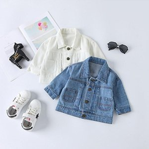 Children Jeans Jacket Coat Spring 2020 High Quality Cotton Full Sleeve Denim Cardigan Outwear Kids Clothes Boys Girls Coat 1-5Y