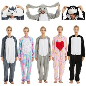 Pyjamas für Frauen Unicorn Stitch Kigurumi Flanell Niedliche Tieranzug-Sets Winter Sleepwear Unicornio Nachttie Pyjamas Home Wear Y200708
