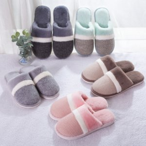 HNlu2 Shu Jiawang neuen Stil Liebhaber Baumwolle Pantoffeln Herbst und Winterschuhe Männer nach Hause rutschfeste Mutterschaft warme Haushalt Wolle Warm Mutterschaft sh