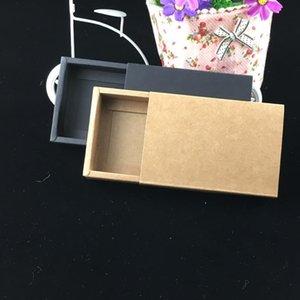 24pcs Lot Blank Kraft Paper Drawer Boxes Black Paperboard Packaging Box Diy Handmade Soap Craft Jewel Party Gift Boxes jllAMb hairjersey