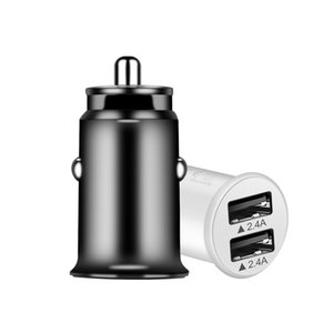 Mini Car Charger Intelligent Car Charger 5v 2.4A Dual USB Fast Charger DHL Free Freight