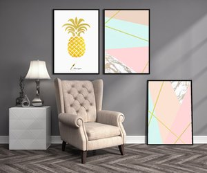 Modern Home Oil Painting Print and Poster Artwork Living Room Pineapple Sweet Fruit Wall Picture for Home Decoration