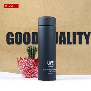 Aiwill Новые вакуумные колбы моды термозы водяной бутылки 500 мл термос из нержавеющей стали вакуумная бутылка прямая Y200106