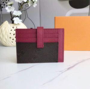 2021 новый роскошный дизайнер новых мужчин женщины мода классический коричневый черный плед случайные кредитные карты идентификатор идентификатора кожи ультра тонкий кошелек пакет сумка