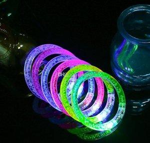 Светодиодный блеск Браслет Bracle Bracgle LED Crystal Gradient Цвет Руководства Акриловые Светящиеся Флэш Свет Палочки Партия Танец X Wmtwad Dhsybaby
