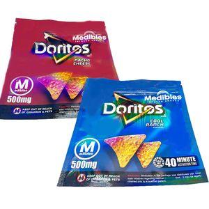 CALDO! 500mg Medibles Cheetos croccy fritos Doritos Nacho Cool Snacks Imballaggio Mylar Bag in magazzino Doritos Cheetos Food Mylar Bags