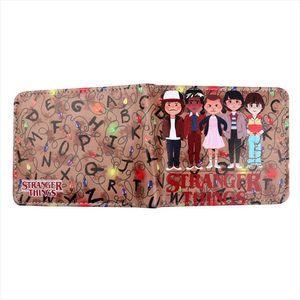 Hot Sale Stranger Things Carteira Bolsa de Dinheiro Credit Id Card Coin Titular Bifold Bolsa Tv Natal 80S presente