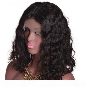Бразильская человеческая девственница Remy Baby Soft Hair Lace Front Full кружева вьющиеся парики 130% Достижение беззащищенного натурального черного цвета