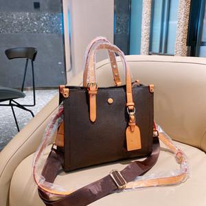 Moda kadın çanta 21 yeni tasarımcı Retro büyük kapasiteli alışveriş çantası ile trendy mektup desen stradding omuz çantası wf212021