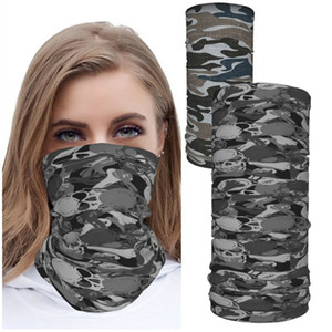 camouflage Scarf Shield 2pcs Neck Gaiter Face Mask Reusable Cloth Face Masks Washable Bandana Face Mask, Sun Dust Protection Cover Balaclava