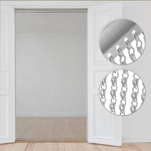 Versore in alluminio catena metallica tenda pollice in argento catena catena tenda serigrafia serragna divisoria domestica uso commerciale domestico LJ201224